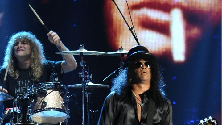 Steven Adler Performs with Guns N' Roses in Cincinnati